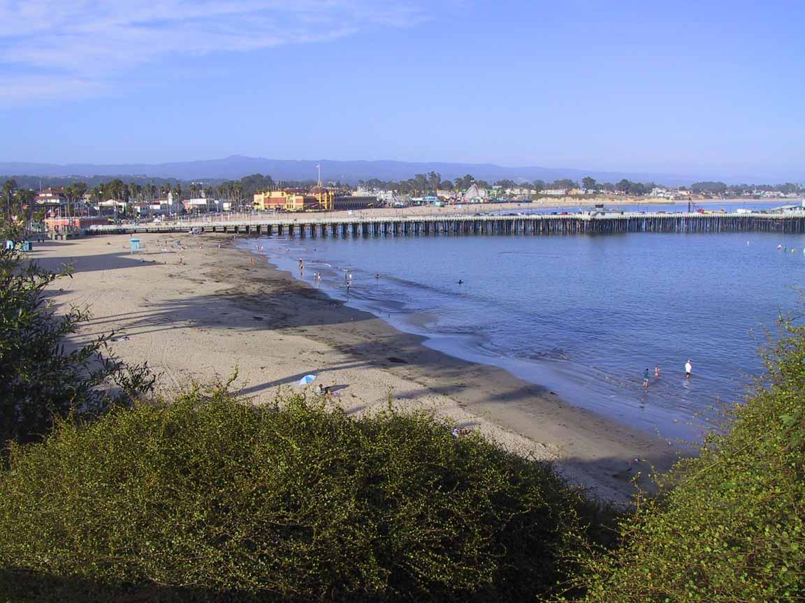 The Santa Cruz Beach Boardwalk Munil Pier Are Within Easy Walking Distance Hear Seals Barking From Their Perches Beneath Wharf